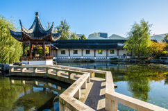 The Dunedin Chinese Garden in New Zealand. Royalty Free Stock Image