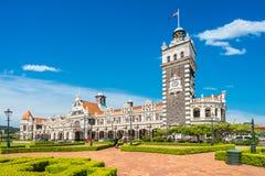 Dunedin järnvägsstation, Nya Zeeland Arkivbilder
