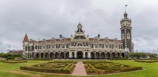 Dunedin järnvägsstation, Dunedin, södra ö av Nya Zeeland Fotografering för Bildbyråer