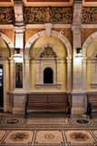Dunedin, New Zealand. Famous railway station interior - historic monument Stock Image