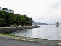 Dunedin, Otago Peninsula, New Zealand - February 5th, 2016: A wi stock photo