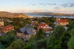 Dunedin pendant le coucher du soleil image stock