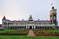 Dunedin Railway Station. Historical Railway Station in Dunedin New Zealand Stock Images