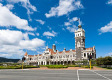 Dunedin Railway station during a sunny day Royalty Free Stock Image