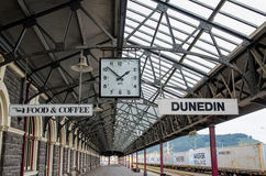 Dunedin Railway Station which is located at south island of New Zealand. Royalty Free Stock Image