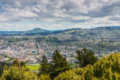 Dunedin seen from the peak of Signal Hill, New Zealand Royalty Free Stock Image