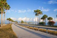 Dunedin vägbank, Florida, USA Arkivbild