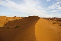 Dunes. Sand dunes in the Sahara desert Stock Photo
