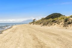 Dunes of artola natural reserve located in Cabopino Marbella Costa del Sol Malaga Spain royalty free stock images