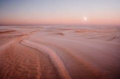 Dunes au paysage de lever de soleil Photo libre de droits