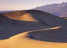 Dunes avant tempête de poussière Image libre de droits