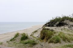 Dunes and the Baltic Sea Royalty Free Stock Photo
