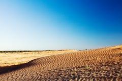 Dunes and barkhans Sahara desert largest hot desert north African continent of Tunis stock photos