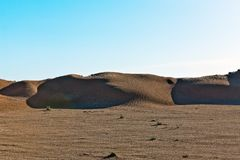 Dunes and barkhans Sahara desert largest hot desert north African continent of Tunis stock photography