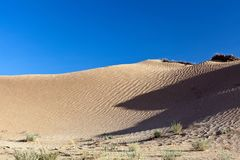 Dunes and barkhans Sahara desert largest hot desert north African continent of Tunis royalty free stock image