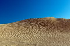 Dunes and barkhans Sahara desert largest hot desert north African continent of Tunis royalty free stock photography