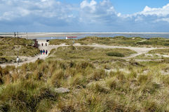 Dunes and beach, Borkum, Germany Royalty Free Stock Photography