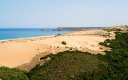 Dunes beach in Sardinia Stock Image