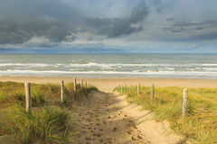 Dunes, beach and sea Royalty Free Stock Photo