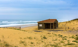 Dunes and beach in Seignosse - France Stock Photo