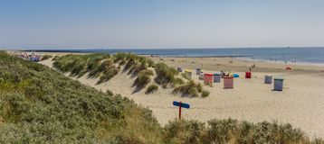 Dunes and beach on the vacation island of Borkum. Germany royalty free stock images