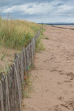 Dunes behind a fence Royalty Free Stock Photo