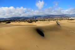 Dunes of Canary Islands Royalty Free Stock Photos