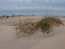 Dunes Carolina Outer Banks du nord d'île de Hatteras photos stock
