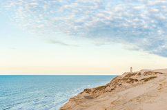Dunes chez Rubjerg Knude dans le nord de Denmarks images libres de droits