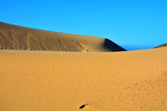 Dunes of Corralejo, Fuerteventura, Canary Islands, Spain. Royalty Free Stock Image