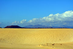 Dunes of Corralejo, Fuerteventura, Canary Islands, Spain. Stock Image