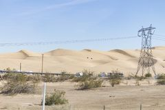 Dunes d'Algones, le comté d'Imperial, la Californie images stock