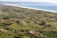 Dunes de Biville, Normandy, France stock photo