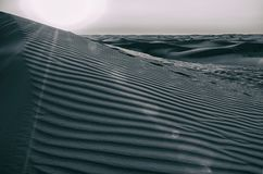 Dunes de désert des EAU Image libre de droits