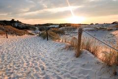 Dunes de la Pologne dans Czolpino image libre de droits
