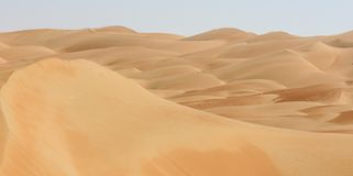 Dunes de Liwa de panorama de désert Photographie stock