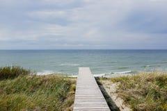 Dunes de plate-forme de point de vue Images stock