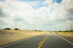 Dunes de route dans Hatteras Image libre de droits