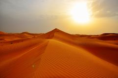 Dunes de sable Abu Dhabi Dubai image libre de droits
