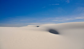 Dunes de sable blanches de Beautifull Image stock