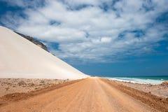 Dunes de sable d'Archer, île d'île de Socotra, Yémen Images libres de droits
