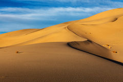 Dunes de sable d'Eureka Death Valley Photo libre de droits