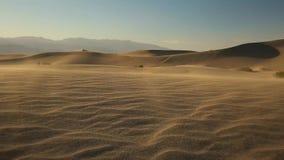 Dunes de sable dans Death Valley banque de vidéos