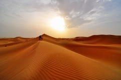 Dunes de sable dans le désert Photo libre de droits