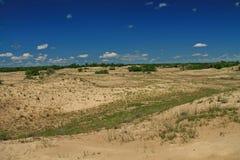 Dunes de sable dans le delta de Danube Photo libre de droits
