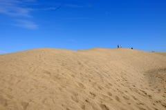 Dunes de sable dans Maspalomas sur mamie Canaria, Espagne - 13 02 2017 Photo libre de droits