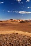 Dunes de sable dans Sahara Desert, Merzouga Photographie stock