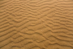 Dunes de sable de désert dans mamie Canaria de Maspalomas Photos stock