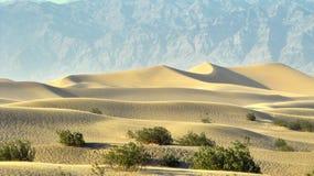 Dunes de sable de Death Valley images libres de droits