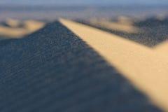 Dunes de sable de parc national de Death Valley Images stock